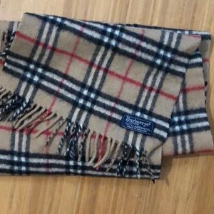 Burberry Nova Check Wool Oblong Fringed Scarf